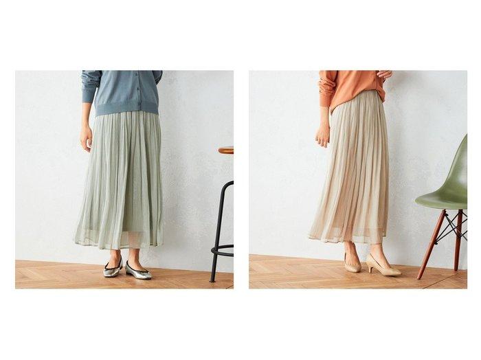 【COMME CA ISM/コムサイズム】のウエストゴム シフォン ギャザースカート 【スカート】おすすめ!人気、トレンド・レディースファッションの通販  おすすめファッション通販アイテム レディースファッション・服の通販 founy(ファニー) ファッション Fashion レディースファッション WOMEN スカート Skirt ロングスカート Long Skirt ギャザー シアー シフォン ロング |ID:crp329100000027322