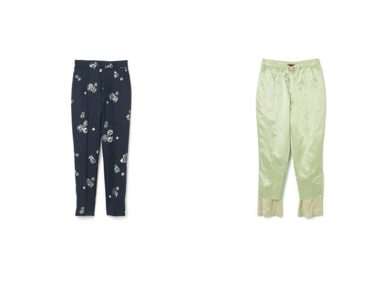 【TOGA/トーガ】のMoire print pants&Acetate satin pants 【パンツ】おすすめ!人気、トレンド・レディースファッションの通販  | レディースファッション・服の通販 founy(ファニー)