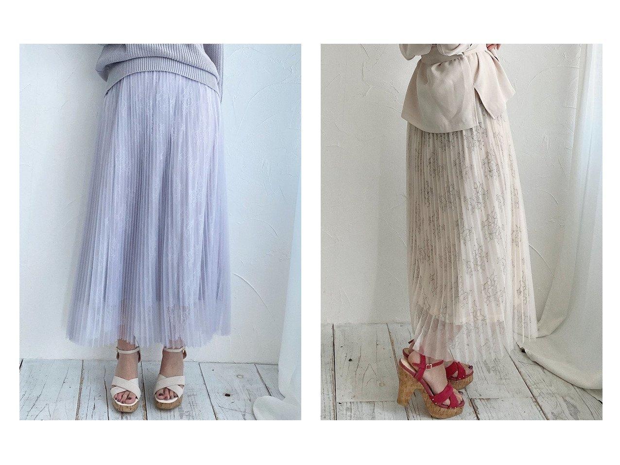 【MISCH MASCH/ミッシュマッシュ】のチュールプリーツレーススカート 【スカート】おすすめ!人気、トレンド・レディースファッションの通販    レディースファッション・服の通販 founy(ファニー)