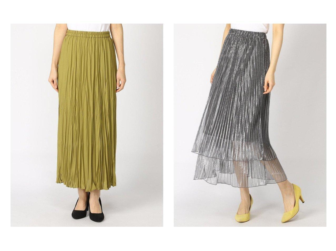 【JEANASiS/ジーナシス】のシアーシャイニーレイヤーSK&【LOWRYS FARM/ローリーズファーム】のワッシャープリーツスカート* 【スカート】おすすめ!人気、トレンド・レディースファッションの通販    レディースファッション・服の通販 founy(ファニー)