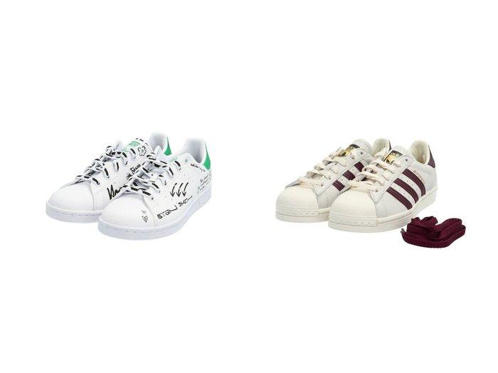 【adidas Originals/アディダス オリジナルス】のSUPERSTAR&スタンスミス STAN SMITH アディダスオリジナルス GV9800 【シューズ・靴】おすすめ!人気、トレンド・レディースファッションの通販  おすすめファッション通販アイテム インテリア・キッズ・メンズ・レディースファッション・服の通販 founy(ファニー) https://founy.com/ ファッション Fashion レディースファッション WOMEN グラフィック シューズ スニーカー スリッポン ベーシック 定番 Standard クラシック ストライプ パフォーマンス |ID:crp329100000027362