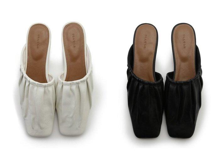 【FRAY I.D/フレイ アイディー】のアシメギャザーミュール 【シューズ・靴】おすすめ!人気、トレンド・レディースファッションの通販  おすすめファッション通販アイテム インテリア・キッズ・メンズ・レディースファッション・服の通販 founy(ファニー) https://founy.com/ ファッション Fashion レディースファッション WOMEN アシンメトリー ギャザー シューズ スニーカー スリッポン |ID:crp329100000027363