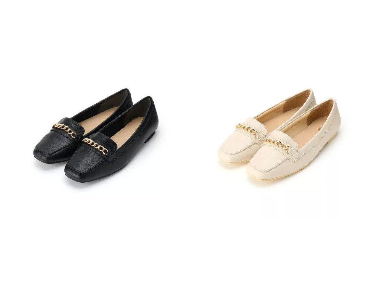 【SHOO LA RUE / DRESKIP/シューラルー ドレスキップ】のチェーンローファー 【シューズ・靴】おすすめ!人気、トレンド・レディースファッションの通販  | レディースファッション・服の通販 founy(ファニー)