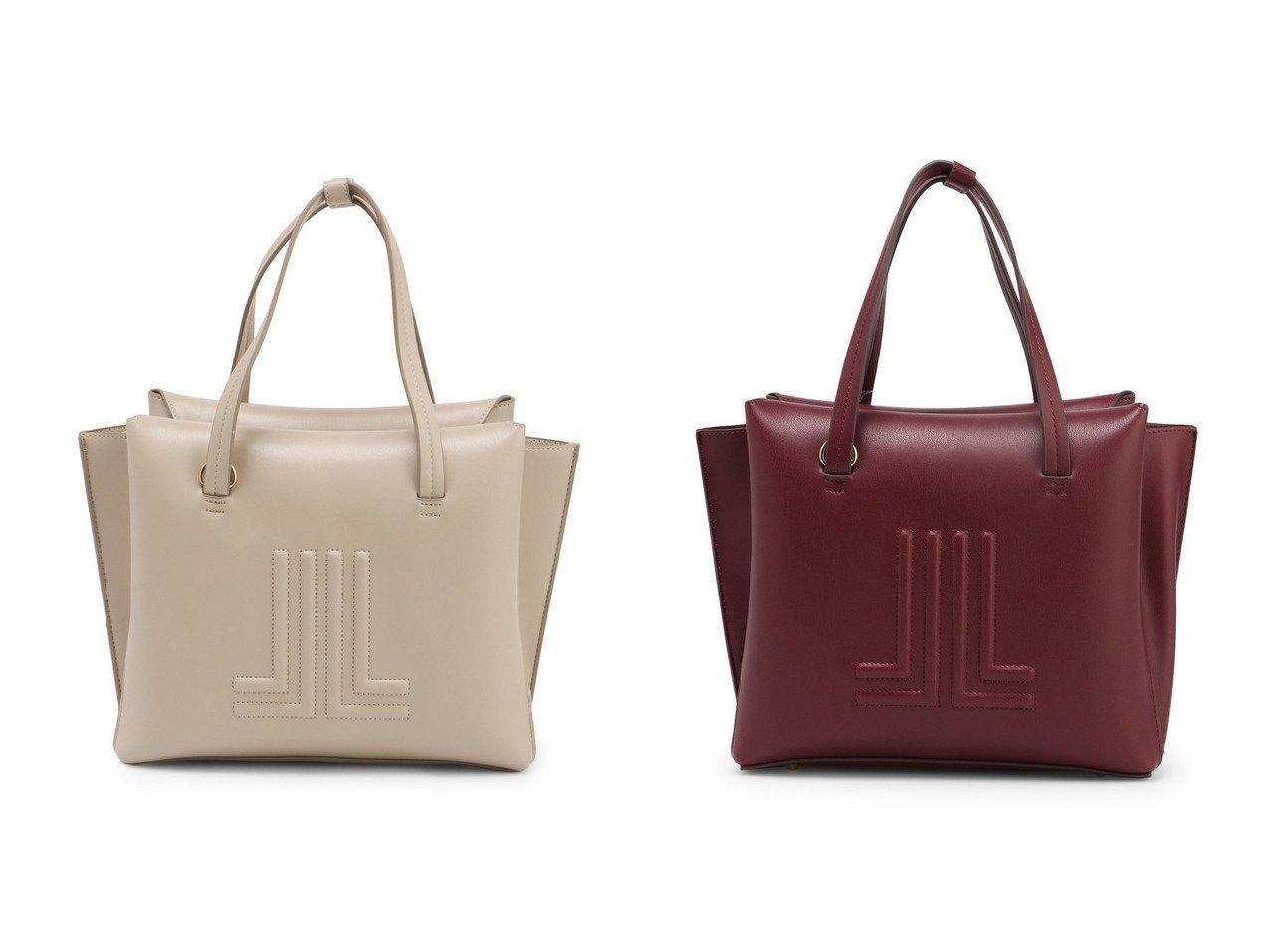 【LANVIN en Bleu/ランバン オン ブルー】のJL型押しトートバッグ 【バッグ・鞄】おすすめ!人気、トレンド・レディースファッションの通販  おすすめで人気の流行・トレンド、ファッションの通販商品 メンズファッション・キッズファッション・インテリア・家具・レディースファッション・服の通販 founy(ファニー) https://founy.com/ ファッション Fashion レディースファッション WOMEN バッグ Bag フォルム |ID:crp329100000027387