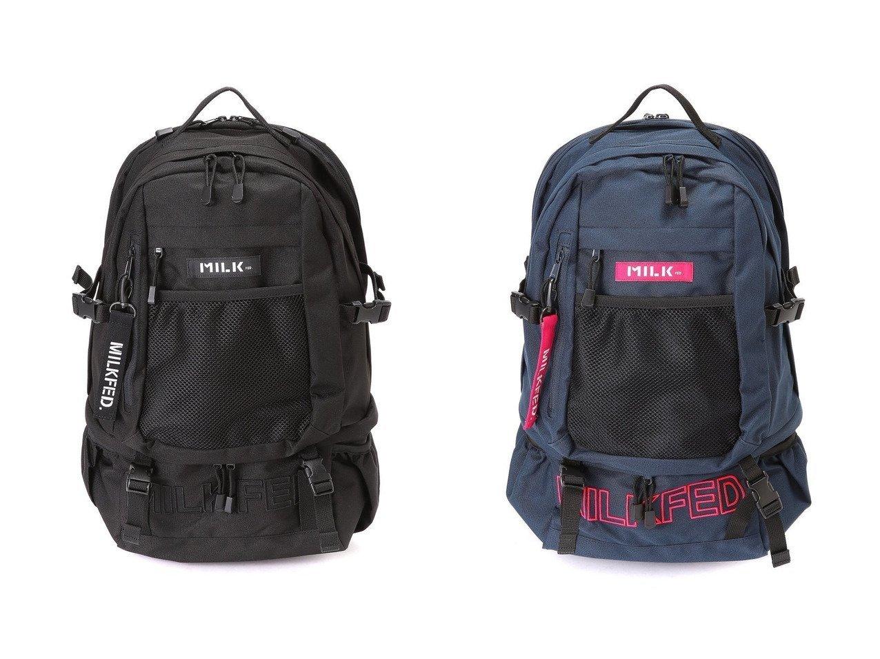 【MILKFED./ミルクフェド】のNEO EMBROID BIG BKPK 【バッグ・鞄】おすすめ!人気、トレンド・レディースファッションの通販    レディースファッション・服の通販 founy(ファニー)