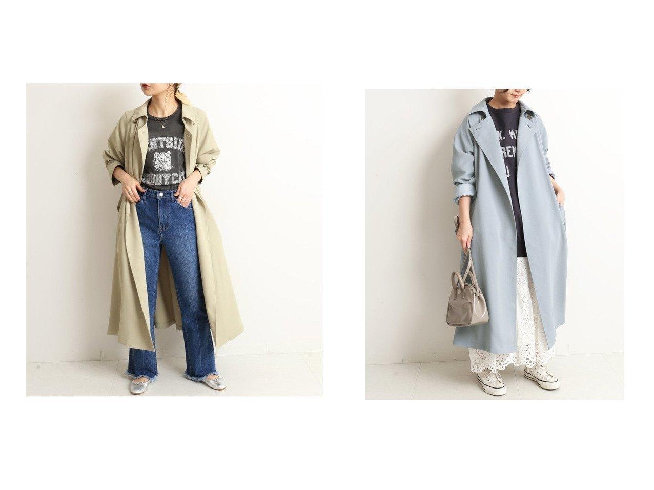 【SLOBE IENA/スローブ イエナ】のウォッシャブルニュアンスコート 【アウター】おすすめ!人気、トレンド・レディースファッションの通販  おすすめで人気の流行・トレンド、ファッションの通販商品 メンズファッション・キッズファッション・インテリア・家具・レディースファッション・服の通販 founy(ファニー) https://founy.com/ ファッション Fashion レディースファッション WOMEN アウター Coat Outerwear コート Coats 2021年 2021 2021春夏・S/S SS/Spring/Summer/2021 S/S・春夏 SS・Spring/Summer シンプル スリーブ リラックス ロング 春 Spring |ID:crp329100000027431