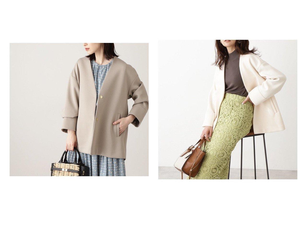 【N.Natural Beauty basic/エヌ ナチュラルビューティーベーシック】のポンチショートコート 【アウター】おすすめ!人気、トレンド・レディースファッションの通販  おすすめで人気の流行・トレンド、ファッションの通販商品 メンズファッション・キッズファッション・インテリア・家具・レディースファッション・服の通販 founy(ファニー) https://founy.com/ ファッション Fashion レディースファッション WOMEN アウター Coat Outerwear コート Coats ジャケット Jackets ブルゾン Blouson/Jackets NEW・新作・新着・新入荷 New Arrivals おすすめ Recommend ジャケット ブルゾン 春 Spring |ID:crp329100000027437