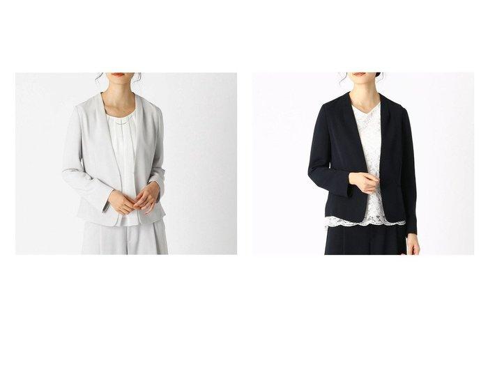 【COMME CA ISM/コムサイズム】の〈セットアップ対応〉 ノーカラージャケット 【アウター】おすすめ!人気、トレンド・レディースファッションの通販  おすすめファッション通販アイテム レディースファッション・服の通販 founy(ファニー)  ファッション Fashion レディースファッション WOMEN アウター Coat Outerwear ジャケット Jackets ノーカラージャケット No Collar Leather Jackets スーツ Suits スーツ ジャケット Jacket スーツセット Suit Sets おすすめ Recommend ジャケット スーツ セットアップ フォーマル |ID:crp329100000027453