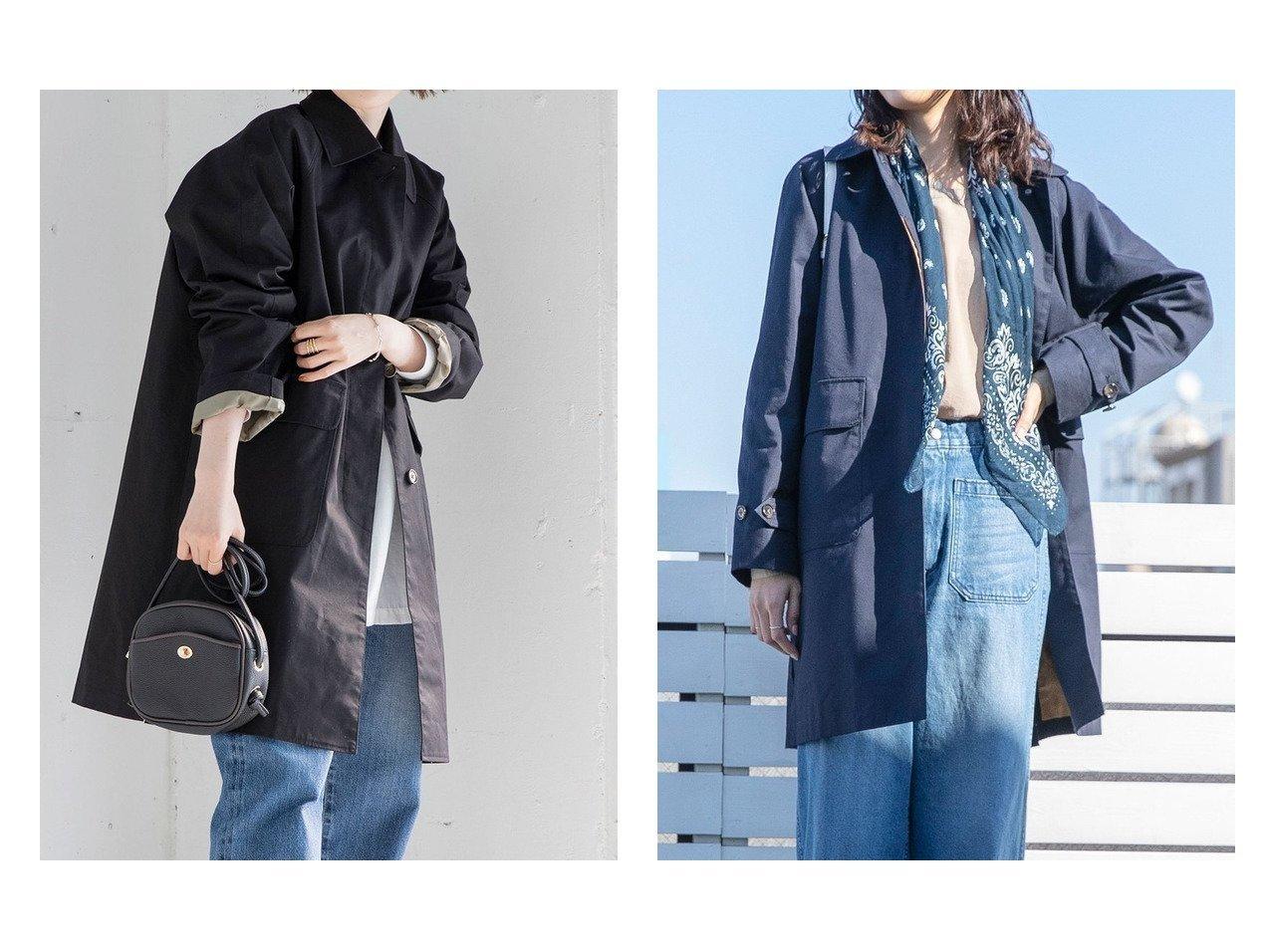 【COEN/コーエン】のサイドスリットステンカラーコート#(春アウター/スプリングコート) 【アウター】おすすめ!人気、トレンド・レディースファッションの通販    レディースファッション・服の通販 founy(ファニー)