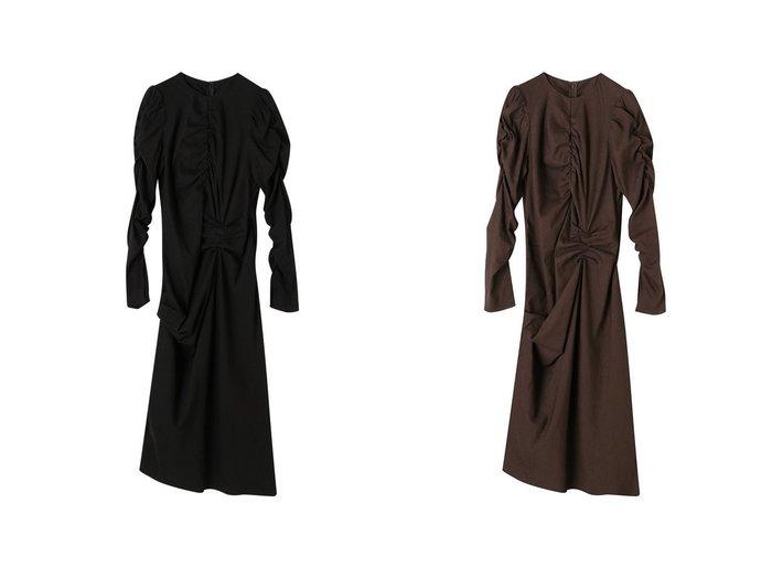 【ETRE TOKYO/エトレトウキョウ】のデザインギャザーIラインワンピース 【ワンピース・ドレス】おすすめ!人気、トレンド・レディースファッションの通販  おすすめファッション通販アイテム レディースファッション・服の通販 founy(ファニー) ファッション Fashion レディースファッション WOMEN ワンピース Dress 2021年 2021 2021春夏・S/S SS/Spring/Summer/2021 S/S・春夏 SS・Spring/Summer おすすめ Recommend なめらか ギャザー コンパクト ストレッチ スリット フェミニン ロング 春 Spring |ID:crp329100000027497