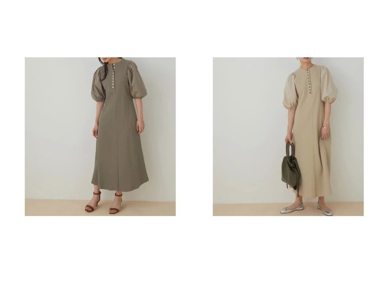 【ADAM ET ROPE'/アダム エ ロペ】の【WEB限定】ボタンディテールワンピース 【ワンピース・ドレス】おすすめ!人気、トレンド・レディースファッションの通販  おすすめで人気の流行・トレンド、ファッションの通販商品 メンズファッション・キッズファッション・インテリア・家具・レディースファッション・服の通販 founy(ファニー) https://founy.com/ ファッション Fashion レディースファッション WOMEN ワンピース Dress 春 Spring サンダル シェイプ シューズ スニーカー ドッキング フォルム フラット フレア フロント ポケット リラックス 2021年 2021 S/S・春夏 SS・Spring/Summer 2021春夏・S/S SS/Spring/Summer/2021 |ID:crp329100000027519