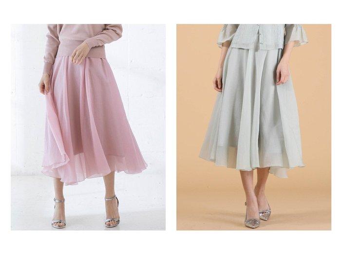 【QUEENS COURT/クイーンズ コート】のエアリーフレアスカート 【スカート】おすすめ!人気、トレンド・レディースファッションの通販 おすすめファッション通販アイテム レディースファッション・服の通販 founy(ファニー)  ファッション Fashion レディースファッション WOMEN スカート Skirt Aライン/フレアスカート Flared A-Line Skirts ロングスカート Long Skirt NEW・新作・新着・新入荷 New Arrivals ロング |ID:crp329100000027585