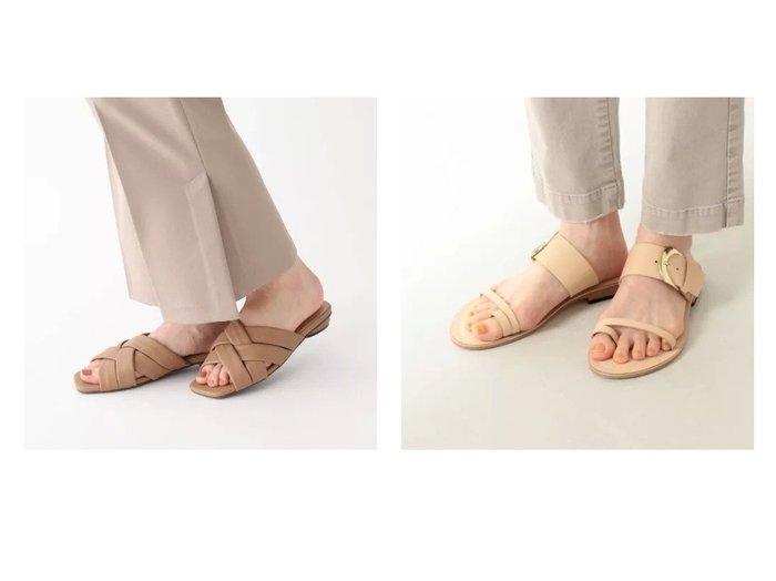 【Demi-Luxe BEAMS/デミルクス ビームス】の別注 トングサンダル&【AG by aquagirl/エージー バイ アクアガール】のクロスフラットミュール 【シューズ・靴】おすすめ!人気、トレンド・レディースファッションの通販 おすすめファッション通販アイテム インテリア・キッズ・メンズ・レディースファッション・服の通販 founy(ファニー) https://founy.com/ ファッション Fashion レディースファッション WOMEN おすすめ Recommend インソール サンダル シューズ スペシャル スマート ダブル フィット フォルム リゾート 別注 スリッパ メッシュ |ID:crp329100000027605