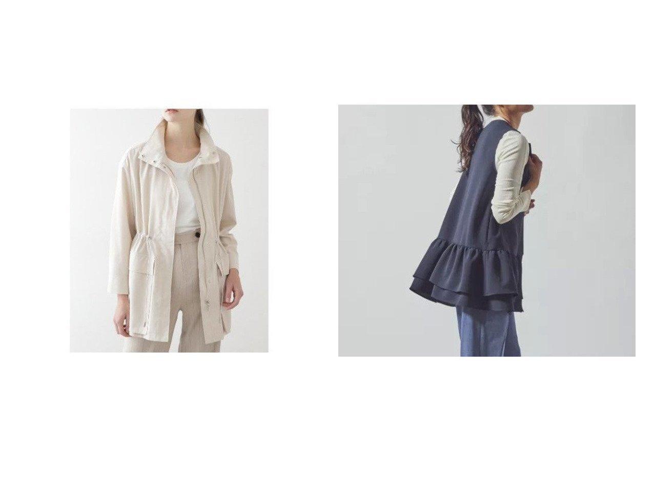 【Viaggio Blu/ビアッジョブルー】のダブルフリル使いロングジレ&【BOSCH/ボッシュ】のミドル丈ブルゾン 【アウター】おすすめ!人気、トレンド・レディースファッションの通販 おすすめで人気の流行・トレンド、ファッションの通販商品 メンズファッション・キッズファッション・インテリア・家具・レディースファッション・服の通販 founy(ファニー) https://founy.com/ ファッション Fashion レディースファッション WOMEN アウター Coat Outerwear トップス・カットソー Tops/Tshirt ベスト/ジレ Gilets/Vests ジャケット Jackets ブルゾン Blouson/Jackets シンプル ダブル フリル ロング ジャケット スタンダード ツイル パッチ ブルゾン ポケット ミドル ワイド |ID:crp329100000027632