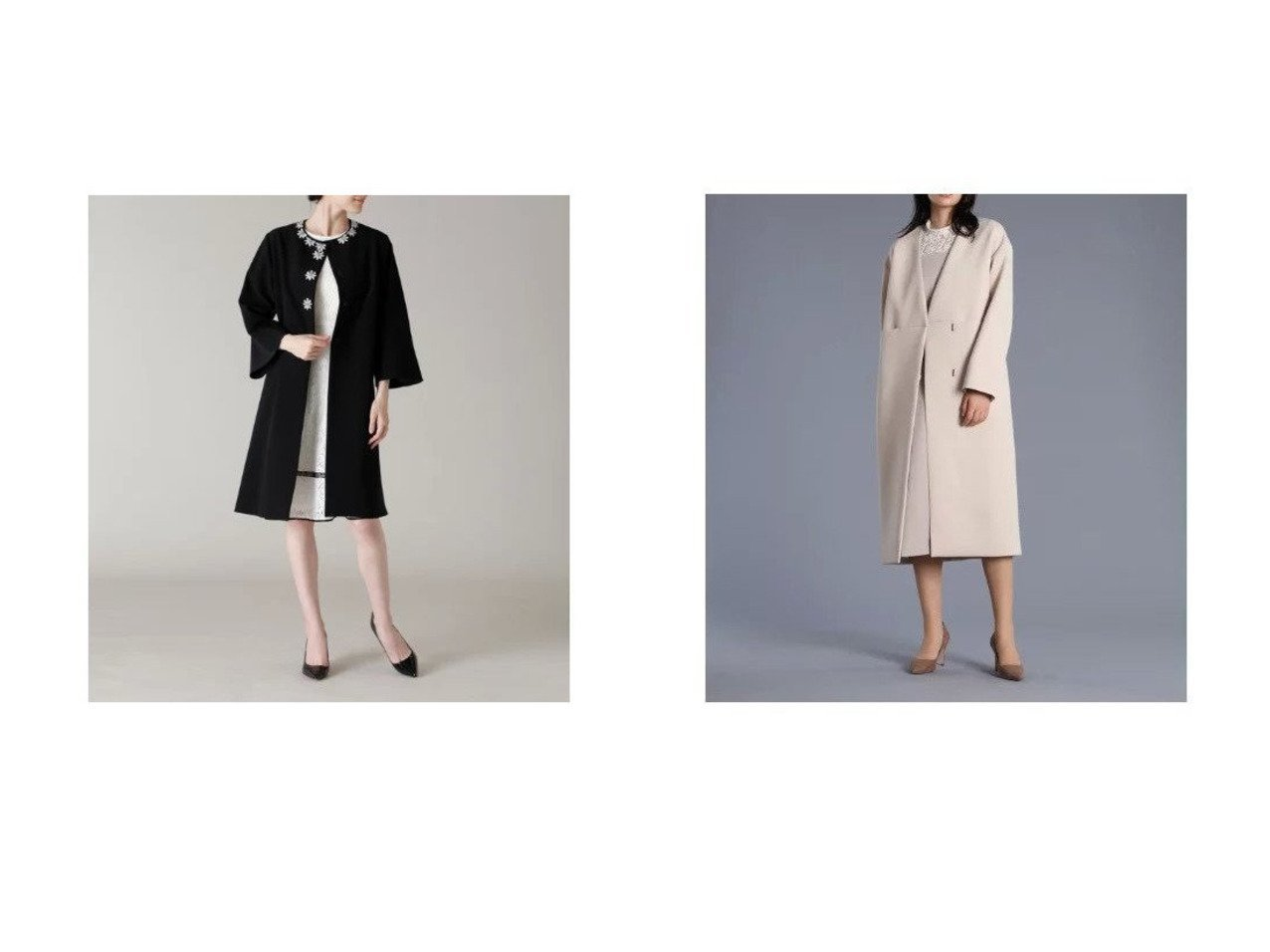 【ef-de/エフデ】の《M Maglie le cassetto》ノーカラーダブルブレステッドコート&《M Maglie le cassetto》デイジービジューコート 【アウター】おすすめ!人気、トレンド・レディースファッションの通販 おすすめで人気の流行・トレンド、ファッションの通販商品 メンズファッション・キッズファッション・インテリア・家具・レディースファッション・服の通販 founy(ファニー) https://founy.com/ ファッション Fashion レディースファッション WOMEN アウター Coat Outerwear コート Coats おすすめ Recommend スリーブ ビジュー ポケット 春 Spring シンプル ジャージー フォーマル フロント |ID:crp329100000027633