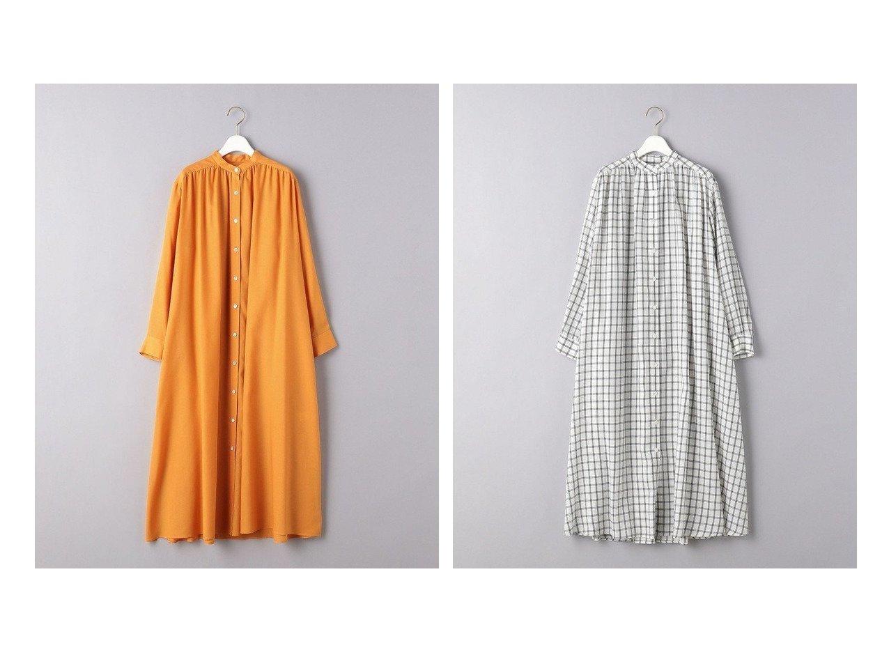 【UNITED ARROWS/ユナイテッドアローズ】のUWSC バンドカラー シャツワンピース 【ワンピース・ドレス】おすすめ!人気、トレンド・レディースファッションの通販  おすすめで人気の流行・トレンド、ファッションの通販商品 メンズファッション・キッズファッション・インテリア・家具・レディースファッション・服の通販 founy(ファニー) https://founy.com/ ファッション Fashion レディースファッション WOMEN ワンピース Dress シャツワンピース Shirt Dresses NEW・新作・新着・新入荷 New Arrivals キャミソール ギャザー ドレープ フロント ヨーク 切替 |ID:crp329100000027657