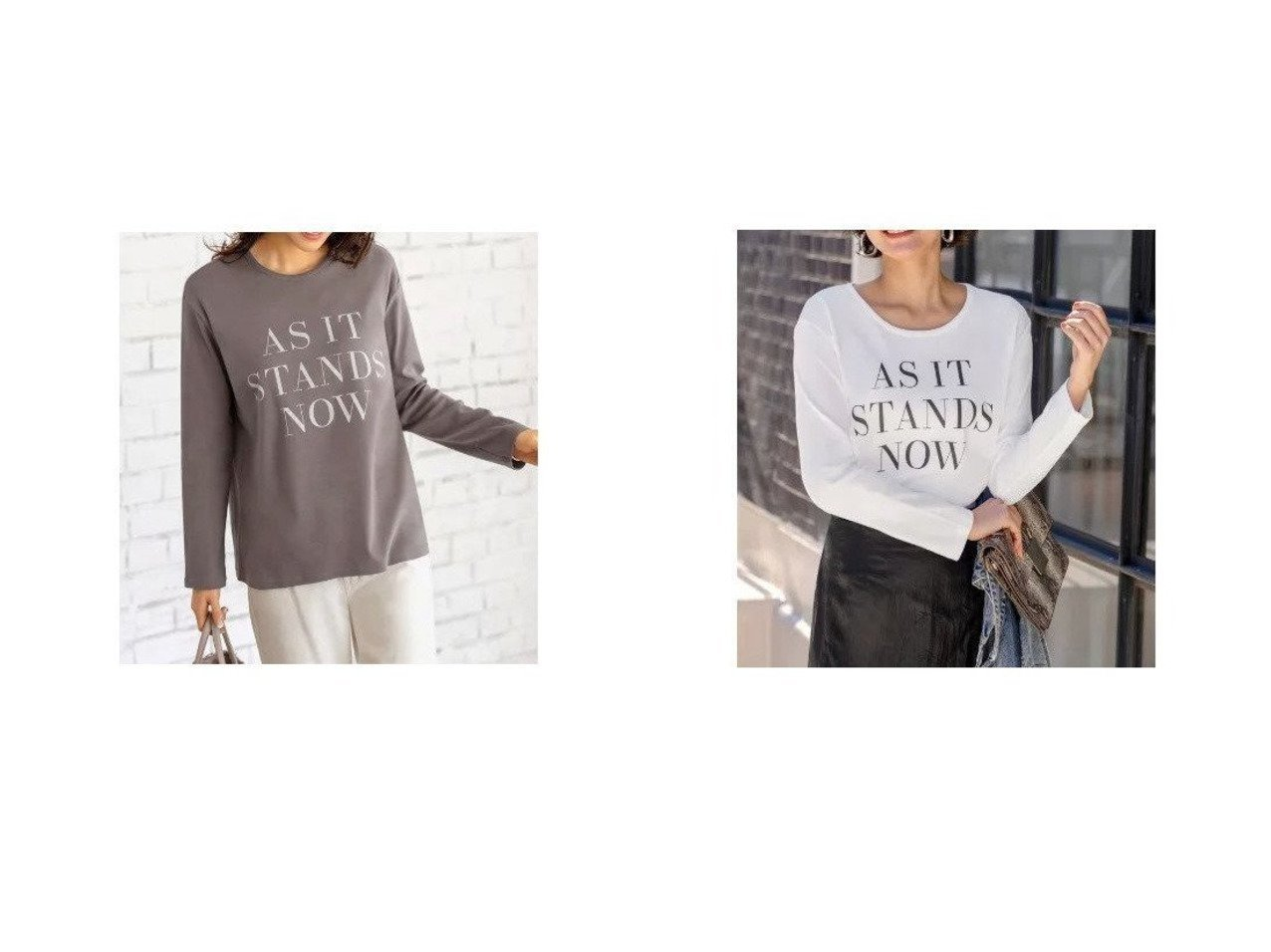 【STYLE DELI/スタイルデリ】の【Made in Japan】AS ITロゴ長袖Tシャツ/狭開き&【Made in Japan】AS ITロゴ長袖Tシャツ/広開き 【トップス・カットソー】おすすめ!人気、トレンド・レディースファッションの通販  おすすめで人気の流行・トレンド、ファッションの通販商品 メンズファッション・キッズファッション・インテリア・家具・レディースファッション・服の通販 founy(ファニー) https://founy.com/ ファッション Fashion レディースファッション WOMEN トップス・カットソー Tops/Tshirt シャツ/ブラウス Shirts/Blouses ロング / Tシャツ T-Shirts カットソー Cut and Sewn イエロー カットソー サロペット デコルテ 人気 長袖 パジャマ フォルム プリント ベーシック 日本製 Made in Japan |ID:crp329100000027733
