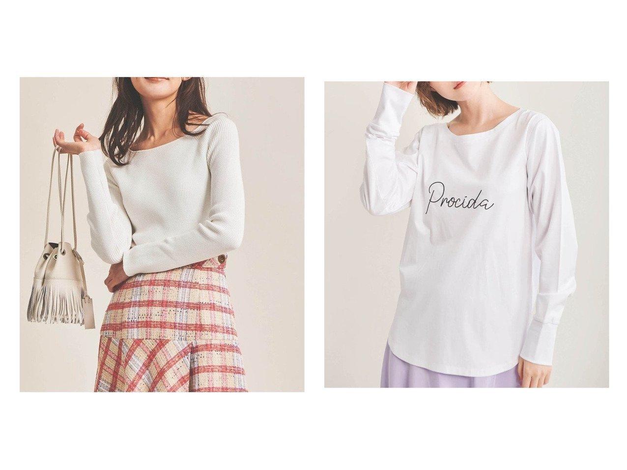 【The Virgnia/ザ ヴァージニア】のコンパクトヤーンボートネックニット&刺繍ロゴロングT 【トップス・カットソー】おすすめ!人気、トレンド・レディースファッションの通販  おすすめで人気の流行・トレンド、ファッションの通販商品 メンズファッション・キッズファッション・インテリア・家具・レディースファッション・服の通販 founy(ファニー) https://founy.com/ ファッション Fashion レディースファッション WOMEN トップス・カットソー Tops/Tshirt ニット Knit Tops シャツ/ブラウス Shirts/Blouses ロング / Tシャツ T-Shirts カットソー Cut and Sewn カッティング シンプル リブニット 定番 Standard 長袖 イタリア カットソー プリント リラックス ロング 今季  ID:crp329100000027744