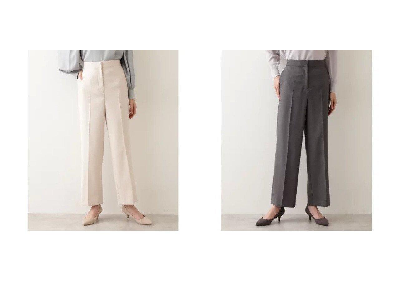 【NATURAL BEAUTY BASIC/ナチュラル ビューティー ベーシック】の[洗える]ダブルクロスストレートワイドパンツ 【パンツ】おすすめ!人気、トレンド・レディースファッションの通販  おすすめで人気の流行・トレンド、ファッションの通販商品 メンズファッション・キッズファッション・インテリア・家具・レディースファッション・服の通販 founy(ファニー) https://founy.com/ ファッション Fashion レディースファッション WOMEN パンツ Pants おすすめ Recommend スタンダード ストレッチ ストレート センター ダブル ワイド 洗える |ID:crp329100000027822