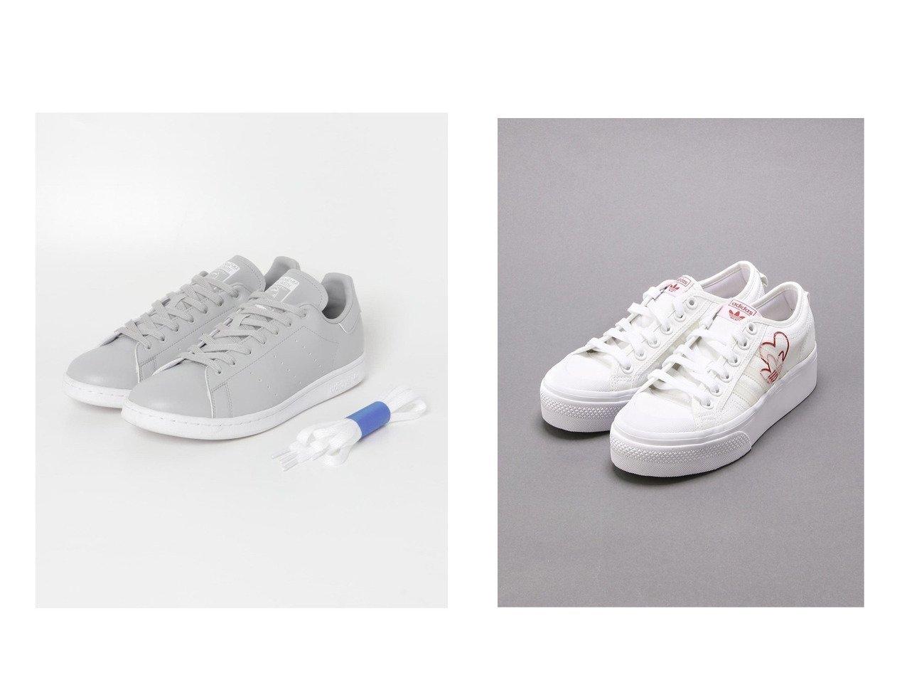 【adidas/アディダス】のNIZZA PLATFORM W&【URBAN RESEARCH/アーバンリサーチ】の【別注】adidas Originals for UR STAN SMITH EX. 【シューズ・靴】おすすめ!人気、トレンド・レディースファッションの通販 おすすめで人気の流行・トレンド、ファッションの通販商品 メンズファッション・キッズファッション・インテリア・家具・レディースファッション・服の通販 founy(ファニー) https://founy.com/ ファッション Fashion レディースファッション WOMEN クラシック シューズ スニーカー スペシャル スリッポン 別注 ラバー 2021年 2021 再入荷 Restock/Back in Stock/Re Arrival S/S・春夏 SS・Spring/Summer 2021春夏・S/S SS/Spring/Summer/2021 NEW・新作・新着・新入荷 New Arrivals |ID:crp329100000027848