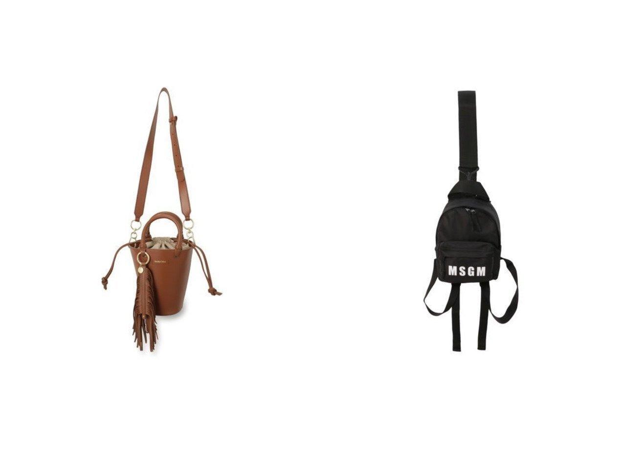 【SEE BY CHLOE/シー バイ クロエ】のSMALL TOTE&【MSGM/エムエスジーエム】のMINI BAG 【バッグ・鞄】おすすめ!人気、トレンド・レディースファッションの通販 おすすめで人気の流行・トレンド、ファッションの通販商品 メンズファッション・キッズファッション・インテリア・家具・レディースファッション・服の通販 founy(ファニー) https://founy.com/ ファッション Fashion レディースファッション WOMEN バッグ Bag 2021年 2021 2021春夏・S/S SS/Spring/Summer/2021 S/S・春夏 SS・Spring/Summer バランス フォルム ラップ エレガント バケツ 巾着 |ID:crp329100000027867