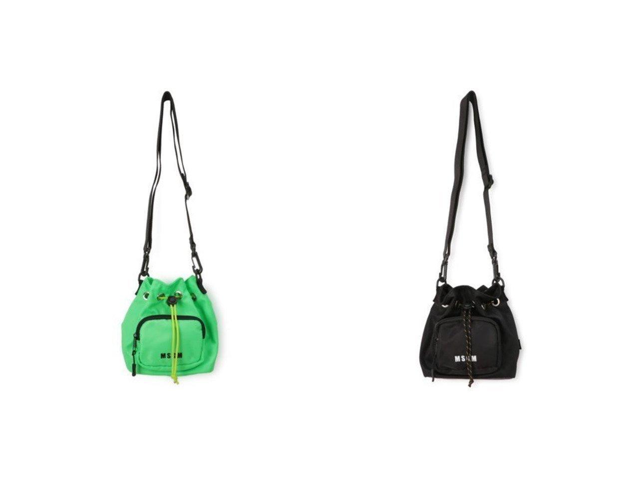 【MSGM/エムエスジーエム】のMINI SHOULDER BAG 【バッグ・鞄】おすすめ!人気、トレンド・レディースファッションの通販 おすすめで人気の流行・トレンド、ファッションの通販商品 メンズファッション・キッズファッション・インテリア・家具・レディースファッション・服の通販 founy(ファニー) https://founy.com/ ファッション Fashion レディースファッション WOMEN バッグ Bag 2021年 2021 2021春夏・S/S SS/Spring/Summer/2021 S/S・春夏 SS・Spring/Summer ショルダー トレンド ドローコード フォルム フロント プリント 巾着 |ID:crp329100000027868
