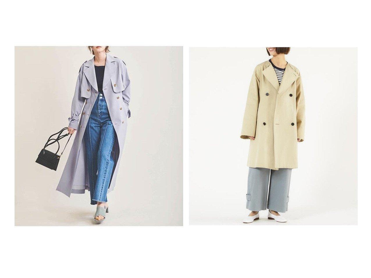 【The Virgnia/ザ ヴァージニア】の3wayトレンチコート&【GALERIE VIE / TOMORROWLAND/ギャルリー ヴィー】のドライコットンツイル ノーカラーコート 【アウター】おすすめ!人気、トレンド・レディースファッションの通販 おすすめで人気の流行・トレンド、ファッションの通販商品 メンズファッション・キッズファッション・インテリア・家具・レディースファッション・服の通販 founy(ファニー) https://founy.com/ ファッション Fashion レディースファッション WOMEN アウター Coat Outerwear コート Coats トレンチコート Trench Coats 2021年 2021 2021春夏・S/S SS/Spring/Summer/2021 S/S・春夏 SS・Spring/Summer ダブル ツイル ハイネック NEW・新作・新着・新入荷 New Arrivals ドレス ノースリーブ フェミニン ロング 春 Spring |ID:crp329100000027883