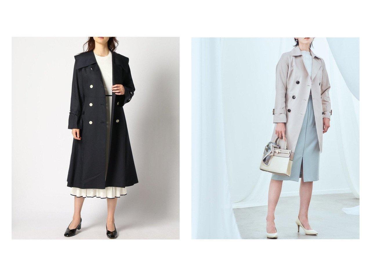 【LANVIN en Bleu/ランバン オン ブルー】のセーラーカラートレンチコート&【MEW'S REFINED CLOTHES/ミューズ リファインド クローズ】の防花粉・撥水ウォッシャブルトレンチコート 【アウター】おすすめ!人気、トレンド・レディースファッションの通販 おすすめで人気の流行・トレンド、ファッションの通販商品 メンズファッション・キッズファッション・インテリア・家具・レディースファッション・服の通販 founy(ファニー) https://founy.com/ ファッション Fashion レディースファッション WOMEN アウター Coat Outerwear コート Coats ジャケット Jackets トレンチコート Trench Coats ウォッシャブル ジャケット ロング 定番 Standard 洗える  ID:crp329100000027898