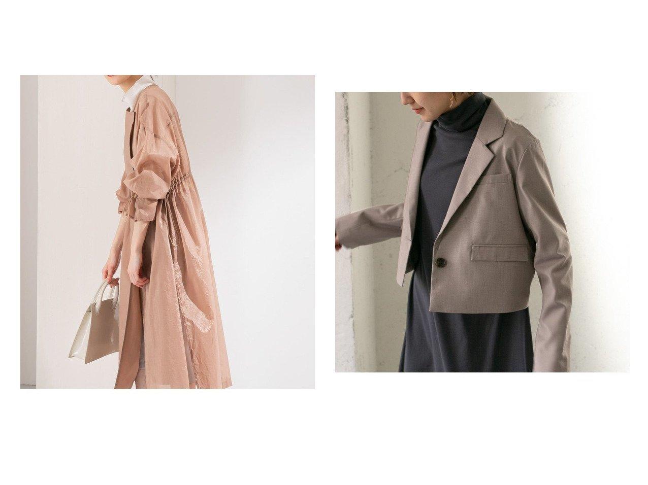 【KBF / URBAN RESEARCH/ケービーエフ】のショートテーラードジャケット&デザインスリーブドロストシアーコート 【アウター】おすすめ!人気、トレンド・レディースファッションの通販 おすすめで人気の流行・トレンド、ファッションの通販商品 メンズファッション・キッズファッション・インテリア・家具・レディースファッション・服の通販 founy(ファニー) https://founy.com/ ファッション Fashion レディースファッション WOMEN アウター Coat Outerwear コート Coats ジャケット Jackets テーラードジャケット Tailored Jackets おすすめ Recommend シアー ジャケット ドローコード ポケット レース 春 Spring 無地 カットソー ショート チュニック デニム トレンド バランス マニッシュ  ID:crp329100000027902