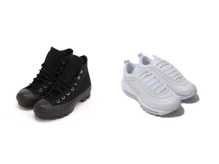 【NIKE/ナイキ】のNIKE W AIR MAX 97&【CONVERSE/コンバース】のALLSTAR100CHUNK 【シューズ・靴】おすすめ!人気、トレンド・レディースファッションの通販  おすすめファッション通販アイテム レディースファッション・服の通販 founy(ファニー) ファッション Fashion レディースファッション WOMEN NEW・新作・新着・新入荷 New Arrivals アンクル シューズ スニーカー スリッポン パッチ パイピング  ID:crp329100000028024