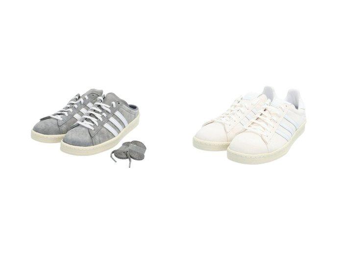 【adidas Originals/アディダス オリジナルス】のCAMPUS 80s&キャンパス 80s ミュール CAMPUS 80s MULE アディダスオリジナルス 【シューズ・靴】おすすめ!人気、トレンド・レディースファッションの通販  おすすめファッション通販アイテム インテリア・キッズ・メンズ・レディースファッション・服の通販 founy(ファニー) https://founy.com/ ファッション Fashion レディースファッション WOMEN クラシック クール シューズ スエード スタイリッシュ スニーカー スポーツ スリッポン ミックス ミュール 定番 Standard シンプル ストライプ プレミアム 今季 再入荷 Restock/Back in Stock/Re Arrival |ID:crp329100000028028