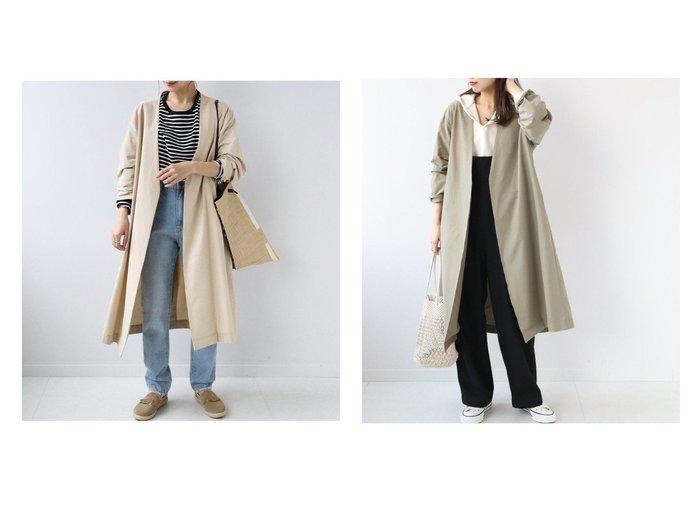 【JOURNAL STANDARD relume/ジャーナルスタンダード レリューム】のコットンナイロンタッサーロングコート 【アウター】おすすめ!人気、トレンド・レディースファッションの通販  おすすめファッション通販アイテム レディースファッション・服の通販 founy(ファニー) ファッション Fashion レディースファッション WOMEN アウター Coat Outerwear コート Coats ジャケット Jackets 2021年 2021 2021春夏・S/S SS/Spring/Summer/2021 S/S・春夏 SS・Spring/Summer ジャケット ロング |ID:crp329100000028048