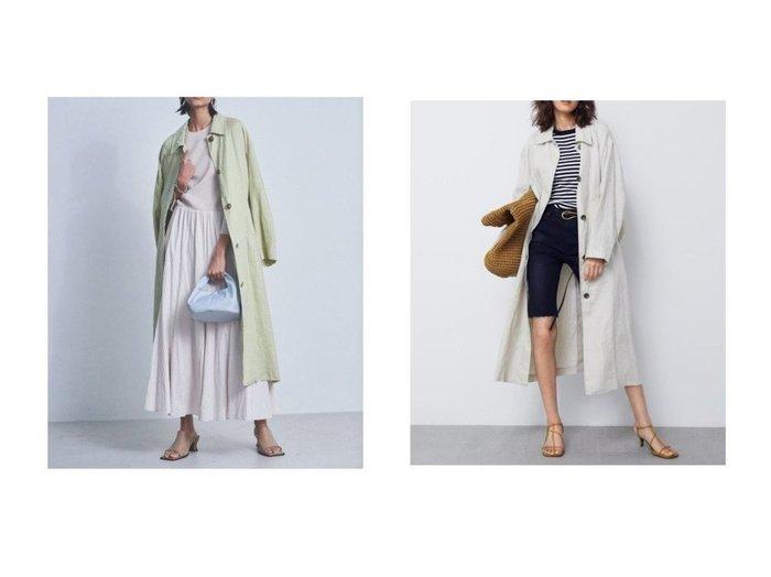 【Mila Owen/ミラオーウェン】のシャツライクヘンプステンカラーコート 【アウター】おすすめ!人気、トレンド・レディースファッションの通販  おすすめファッション通販アイテム インテリア・キッズ・メンズ・レディースファッション・服の通販 founy(ファニー) https://founy.com/ ファッション Fashion レディースファッション WOMEN アウター Coat Outerwear コート Coats ギンガム 抗菌 スマート チェック ベーシック リラックス ロング 再入荷 Restock/Back in Stock/Re Arrival おすすめ Recommend |ID:crp329100000028058