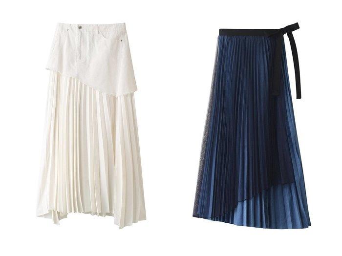 【AULA/アウラ】の【AULA AILA】ツイルドッキングプリーツスカート&【AULA AILA】デニム2WAYプリーツスカート 【スカート】おすすめ!人気、トレンド・レディースファッションの通販  おすすめファッション通販アイテム レディースファッション・服の通販 founy(ファニー) ファッション Fashion レディースファッション WOMEN スカート Skirt プリーツスカート Pleated Skirts 2021年 2021 2021春夏・S/S SS/Spring/Summer/2021 S/S・春夏 SS・Spring/Summer カットオフ ドッキング プリーツ ベーシック ボトム ミニスカート 今季 春 Spring  ID:crp329100000028081