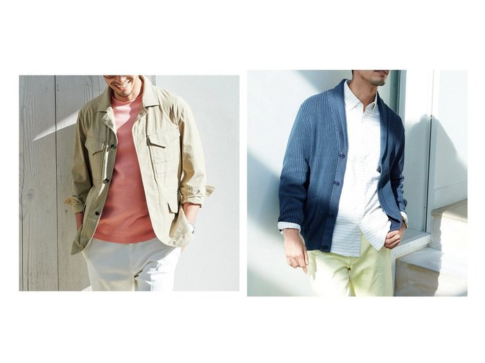 【DoCLASSE / MEN/ドゥクラッセ】のコットンフェイドショールカーディガン&ライトコットンスラブM-43ブルゾン 40代、50代の男性におすすめ!人気トレンド・ファッションの通販 おすすめファッション通販アイテム レディースファッション・服の通販 founy(ファニー) ファッション Fashion メンズファッション MEN ヴィンテージ サングラス ジャケット ストレッチ バランス フロント ブルゾン ポケット ラウンド ループ 軽量 |ID:crp329100000028094