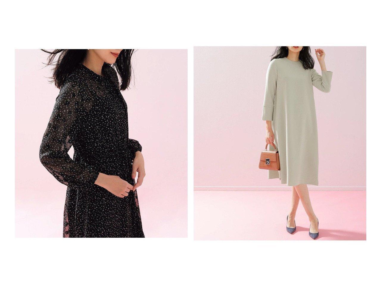 【DoCLASSE/ドゥクラッセ】のダブルクロス・ベルト付き2WAYワンピース&シアージャカード・プリントワンピース 40代、50代の女性におすすめ!人気トレンド・ファッションの通販 おすすめで人気の流行・トレンド、ファッションの通販商品 メンズファッション・キッズファッション・インテリア・家具・レディースファッション・服の通販 founy(ファニー) https://founy.com/ ファッション Fashion レディースファッション WOMEN ワンピース Dress ベルト Belts シェイプ シフォン ジャカード プリント モノトーン ロマンティック シンプル ダブル |ID:crp329100000028109