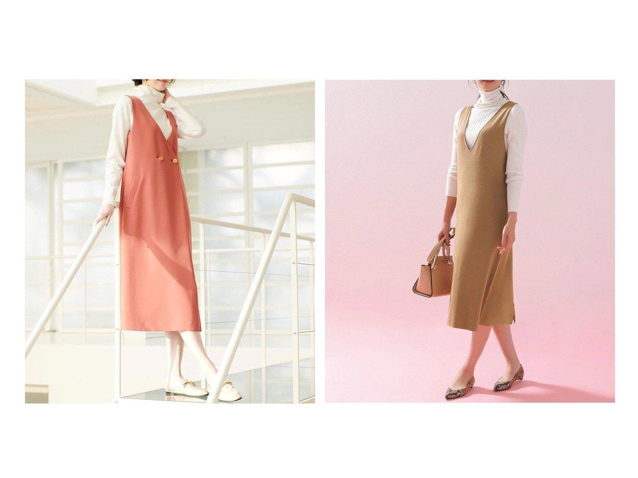【DoCLASSE/ドゥクラッセ】のダブルクロス・Vネックワンピース&シルクフィール・ニットジャンパースカート 40代、50代の女性におすすめ!人気トレンド・ファッションの通販 おすすめで人気の流行・トレンド、ファッションの通販商品 メンズファッション・キッズファッション・インテリア・家具・レディースファッション・服の通販 founy(ファニー) https://founy.com/ ファッション Fashion レディースファッション WOMEN ワンピース Dress スカート Skirt インナー ダブル ドレープ ロング なめらか 人気 |ID:crp329100000028111