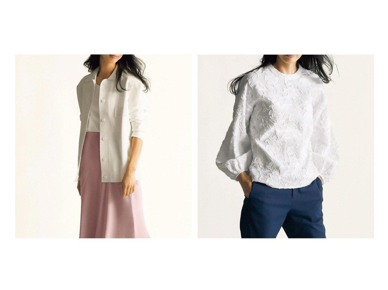 【DoCLASSE/ドゥクラッセ】のミラノリブ・CPOニットジャケット&カットジャカード・ボリューム袖ブラウス 40代、50代の女性におすすめ!人気トレンド・ファッションの通販 おすすめで人気の流行・トレンド、ファッションの通販商品 メンズファッション・キッズファッション・インテリア・家具・レディースファッション・服の通販 founy(ファニー) https://founy.com/ ファッション Fashion レディースファッション WOMEN アウター Coat Outerwear ジャケット Jackets トップス・カットソー Tops/Tshirt シャツ/ブラウス Shirts/Blouses なめらか ジャケット トレンド ミラノ ミラノリブ 人気 秋 Autumn/Fall エレガント ジャカード スリーブ |ID:crp329100000028114