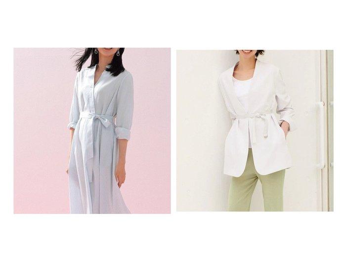 【DoCLASSE/ドゥクラッセ】のソフトクロス・カシュクールシャツワンピース&ダブルクロス・ドレーピージャケット 40代、50代の女性におすすめ!人気トレンド・ファッションの通販 おすすめファッション通販アイテム レディースファッション・服の通販 founy(ファニー) ファッション Fashion レディースファッション WOMEN ワンピース Dress シャツワンピース Shirt Dresses アウター Coat Outerwear ジャケット Jackets とろみ カシュクール スタンド おすすめ Recommend ジャケット ダブル |ID:crp329100000028118