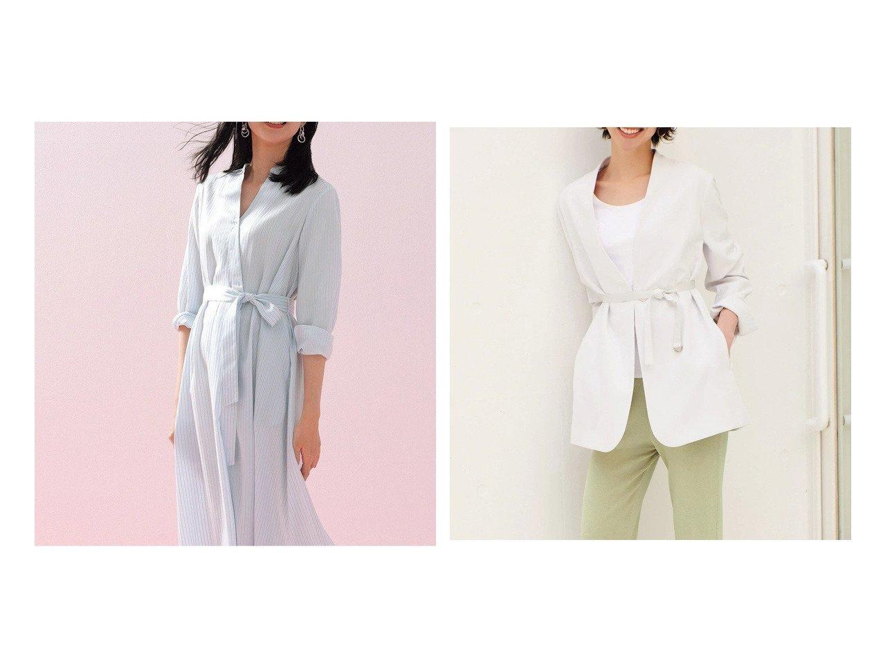 【DoCLASSE/ドゥクラッセ】のソフトクロス・カシュクールシャツワンピース&ダブルクロス・ドレーピージャケット 40代、50代の女性におすすめ!人気トレンド・ファッションの通販 おすすめで人気の流行・トレンド、ファッションの通販商品 メンズファッション・キッズファッション・インテリア・家具・レディースファッション・服の通販 founy(ファニー) https://founy.com/ ファッション Fashion レディースファッション WOMEN ワンピース Dress シャツワンピース Shirt Dresses アウター Coat Outerwear ジャケット Jackets とろみ カシュクール スタンド おすすめ Recommend ジャケット ダブル |ID:crp329100000028118