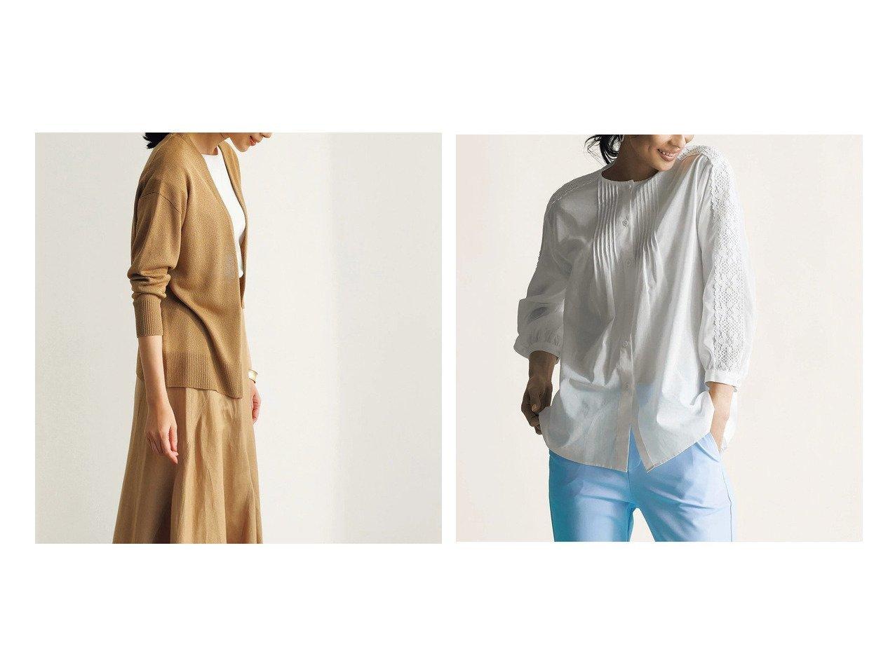 【DoCLASSE/ドゥクラッセ】のイタリア糸・着流しカーディガン&エアリーコットン・ピンタックレースブラウス 40代、50代の女性におすすめ!人気トレンド・ファッションの通販 おすすめで人気の流行・トレンド、ファッションの通販商品 メンズファッション・キッズファッション・インテリア・家具・レディースファッション・服の通販 founy(ファニー) https://founy.com/ ファッション Fashion レディースファッション WOMEN トップス・カットソー Tops/Tshirt カーディガン Cardigans シャツ/ブラウス Shirts/Blouses イタリア カーディガン スタイリッシュ レース |ID:crp329100000028124
