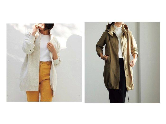 【DoCLASSE/ドゥクラッセ】のループ裏毛・ジップアップジャケット&高密度コットンナイロン・2WAYコート 40代、50代の女性におすすめ!人気トレンド・ファッションの通販 おすすめファッション通販アイテム レディースファッション・服の通販 founy(ファニー) ファッション Fashion レディースファッション WOMEN アウター Coat Outerwear ジャケット Jackets コート Coats おすすめ Recommend ショルダー スウェット スポーティ トレンド トレーナー ドロップ ループ スタンド モダン ワイヤー |ID:crp329100000028125