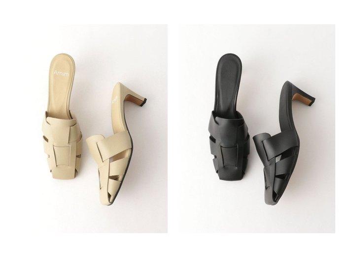 【BEAUTY&YOUTH / UNITED ARROWS/ビューティ&ユース ユナイテッドアローズ】のArrum レザーミュール 【シューズ・靴】おすすめ!人気、トレンド・レディースファッションの通販 おすすめファッション通販アイテム レディースファッション・服の通販 founy(ファニー)  ファッション Fashion レディースファッション WOMEN NEW・新作・新着・新入荷 New Arrivals おすすめ Recommend サンダル シューズ ソックス トレンド ミュール メッシュ リアル |ID:crp329100000028148