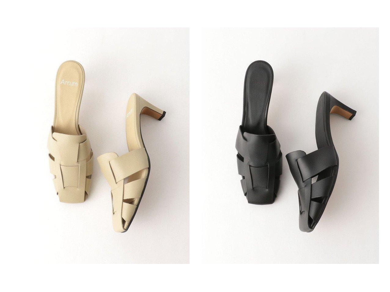【BEAUTY&YOUTH / UNITED ARROWS/ビューティ&ユース ユナイテッドアローズ】のArrum レザーミュール 【シューズ・靴】おすすめ!人気、トレンド・レディースファッションの通販 おすすめで人気の流行・トレンド、ファッションの通販商品 メンズファッション・キッズファッション・インテリア・家具・レディースファッション・服の通販 founy(ファニー) https://founy.com/ ファッション Fashion レディースファッション WOMEN NEW・新作・新着・新入荷 New Arrivals おすすめ Recommend サンダル シューズ ソックス トレンド ミュール メッシュ リアル  ID:crp329100000028148