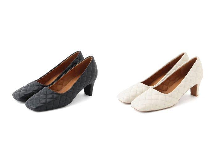 【ROPE' mademoiselle/ロペ マドモアゼル】のキルティングスクエアトゥパンプス 【シューズ・靴】おすすめ!人気、トレンド・レディースファッションの通販 おすすめファッション通販アイテム レディースファッション・服の通販 founy(ファニー) ファッション Fashion レディースファッション WOMEN キルティング シューズ トレンド パターン ライニング |ID:crp329100000028150