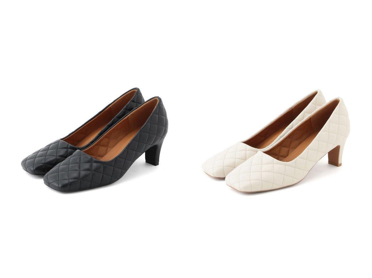 【ROPE' mademoiselle/ロペ マドモアゼル】のキルティングスクエアトゥパンプス 【シューズ・靴】おすすめ!人気、トレンド・レディースファッションの通販 おすすめで人気の流行・トレンド、ファッションの通販商品 メンズファッション・キッズファッション・インテリア・家具・レディースファッション・服の通販 founy(ファニー) https://founy.com/ ファッション Fashion レディースファッション WOMEN キルティング シューズ トレンド パターン ライニング  ID:crp329100000028150
