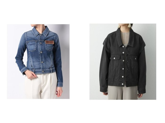 【en recre/アン レクレ】の【YANUK】Gジャン&【moussy/マウジー】のCONSCIOUS DENIM ジャケット 【アウター】おすすめ!人気、トレンド・レディースファッションの通販  おすすめファッション通販アイテム レディースファッション・服の通販 founy(ファニー) ファッション Fashion レディースファッション WOMEN アウター Coat Outerwear コート Coats ジャケット Jackets デニムジャケット Denim Jackets おすすめ Recommend ウォッシュ コンパクト ジャケット スタイリッシュ タンク バランス ショルダー セットアップ デニム トレンド |ID:crp329100000028238