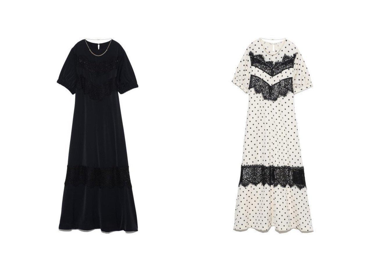 【Lily Brown/リリーブラウン】のL.B CANDY STOCK ビジューチェーン付ワンピース 【ワンピース・ドレス】おすすめ!人気、トレンド・レディースファッションの通販  おすすめで人気の流行・トレンド、ファッションの通販商品 メンズファッション・キッズファッション・インテリア・家具・レディースファッション・服の通販 founy(ファニー) https://founy.com/ ファッション Fashion レディースファッション WOMEN ワンピース Dress エアリー オケージョン スマート デニム ドット ネックレス バランス フィット リボン レース おすすめ Recommend  ID:crp329100000028251