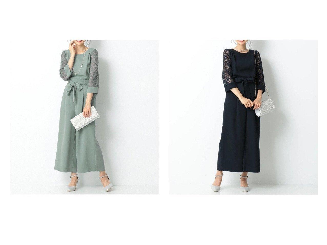 【any SiS/エニィ スィス】の【2SET】レーシーワイドパンツ セットアップ 【ワンピース・ドレス】おすすめ!人気、トレンド・レディースファッションの通販  おすすめで人気の流行・トレンド、ファッションの通販商品 メンズファッション・キッズファッション・インテリア・家具・レディースファッション・服の通販 founy(ファニー) https://founy.com/ ファッション Fashion レディースファッション WOMEN セットアップ Setup パンツ Pants おすすめ Recommend エレガント スタイリッシュ ストレッチ セットアップ フェミニン リボン レース ワイド  ID:crp329100000028257
