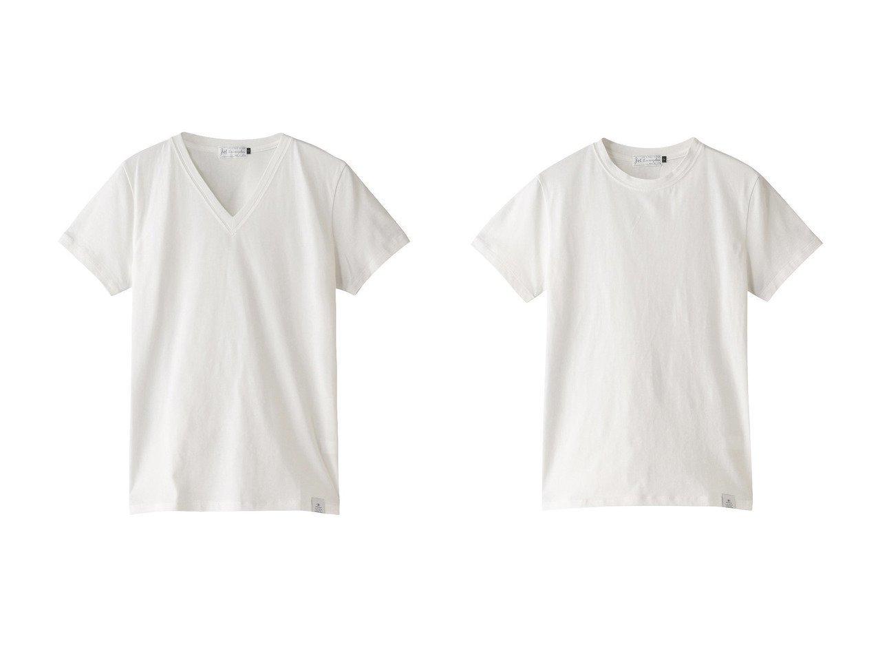 【JET/ジェット】の【JET LOSANGELES】VネックコットンTシャツ(2枚セット)&【JET LOSANGELES】クルーネックコットンTシャツ(2枚セット) 【トップス・カットソー】おすすめ!人気、トレンド・レディースファッションの通販  おすすめで人気の流行・トレンド、ファッションの通販商品 メンズファッション・キッズファッション・インテリア・家具・レディースファッション・服の通販 founy(ファニー) https://founy.com/ ファッション Fashion レディースファッション WOMEN トップス・カットソー Tops/Tshirt シャツ/ブラウス Shirts/Blouses ロング / Tシャツ T-Shirts カットソー Cut and Sewn Vネック V-Neck 2021年 2021 2021春夏・S/S SS/Spring/Summer/2021 S/S・春夏 SS・Spring/Summer ショート シンプル スリーブ 定番 Standard 春 Spring |ID:crp329100000028277